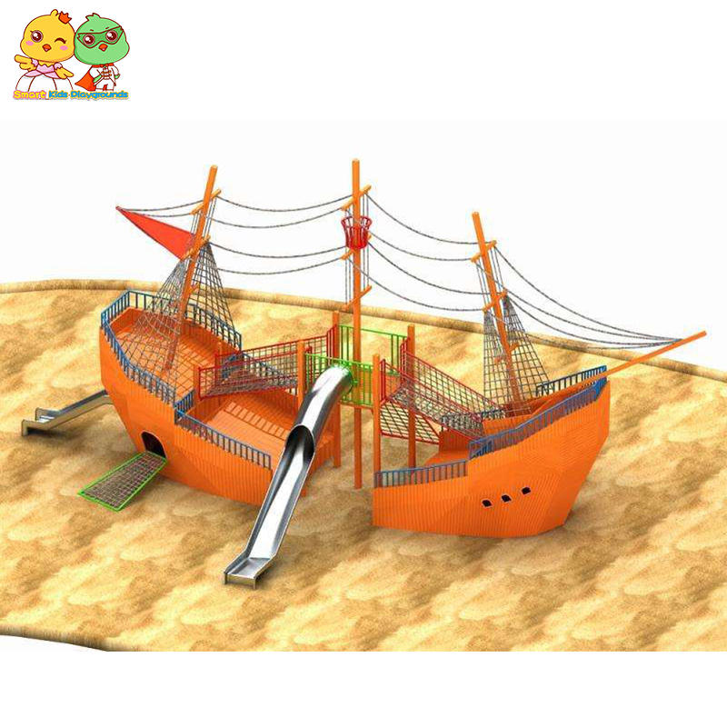 Amusement park playground wooden children play house factory price SKP-1808005