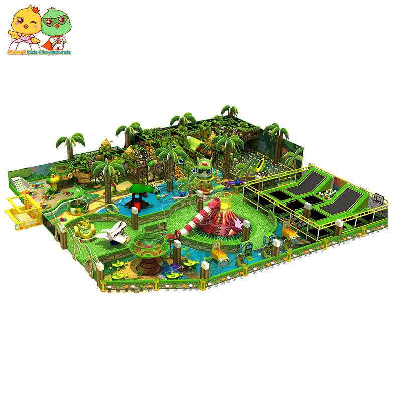 CE Approved Jungle Theme Indoor Trampoline Park SKP