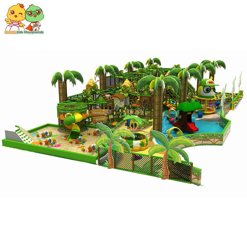 CE Approved Jungle Theme Indoor Trampoline Park SKP