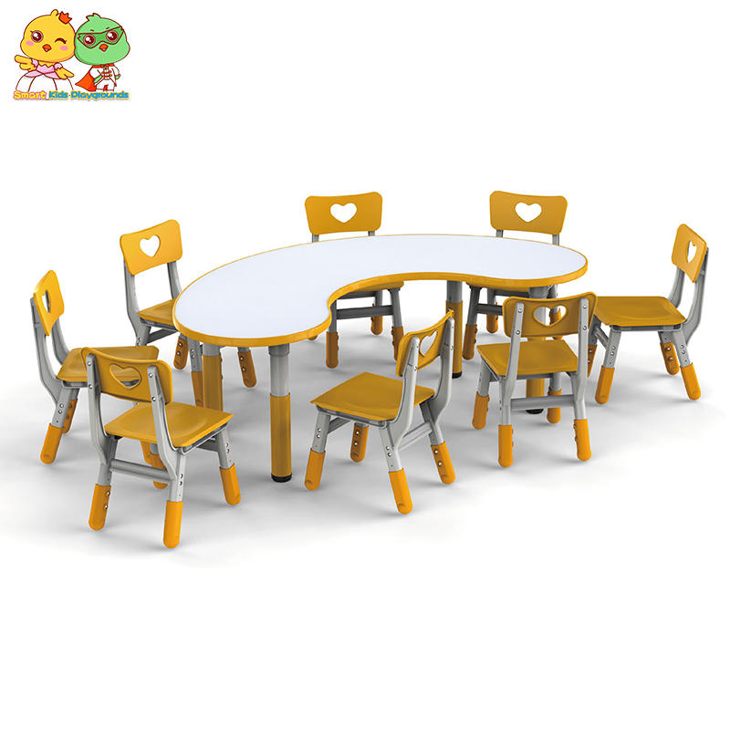 Kindergarten wooden table,Library study table set for school SKB-1810271