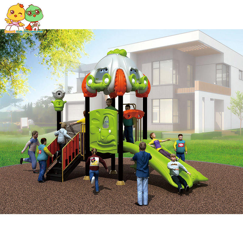 Kids outdoor playground plastic slides Jungle Series SKP-1810272