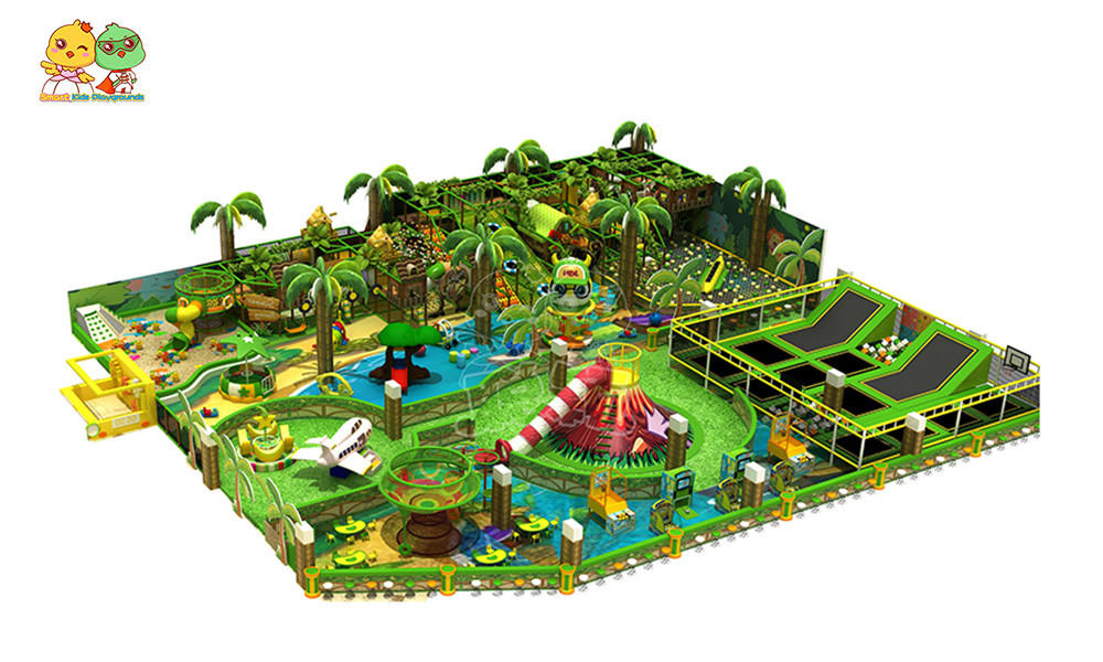 Smart Kids Playgrounds theme wooden jungle gym directly price for shopping mall