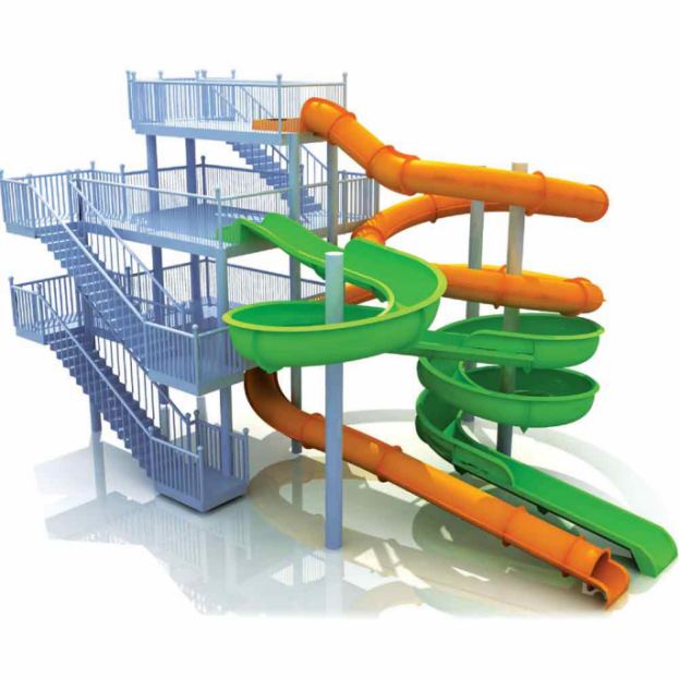 security water slides play simple assembly for playground-2