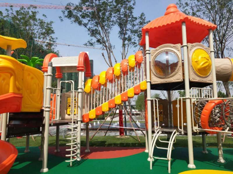 popular park water slides outdoor simple assembly for plaza