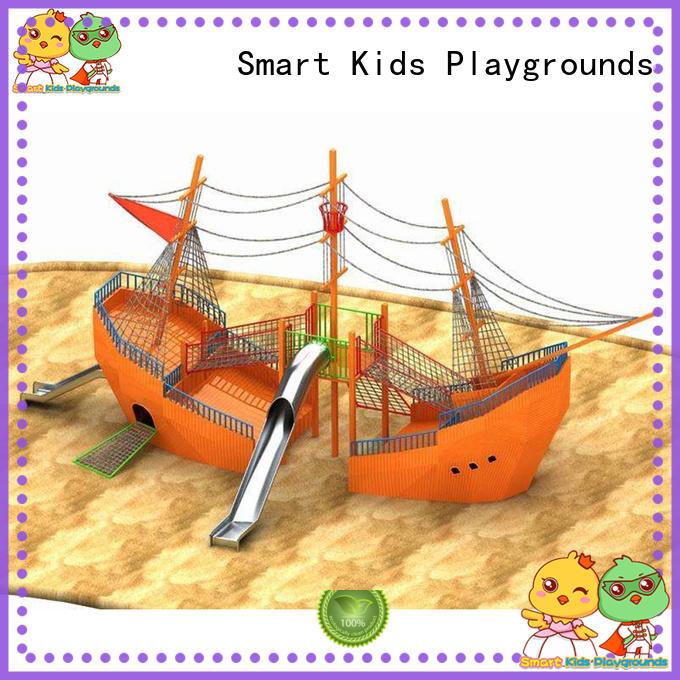 boys slides wooden metal kids slide house Smart Kids Playgrounds Brand