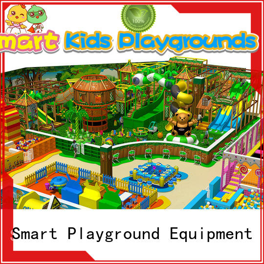 Smart Kids Playgrounds Brand trampoline approved indoor plastic jungle gym ce