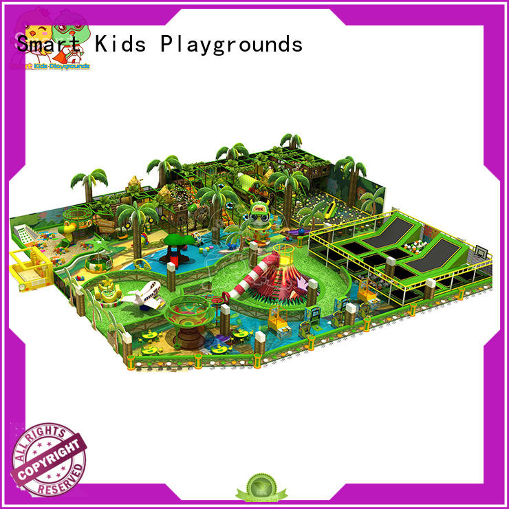 plastic jungle gym indoor jungle theme playground Smart Kids Playgrounds Brand