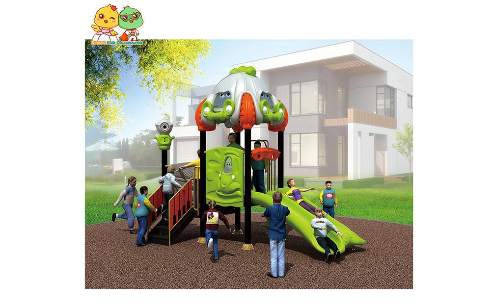 SKP playground plastic slide directly sale for kindergarten-1