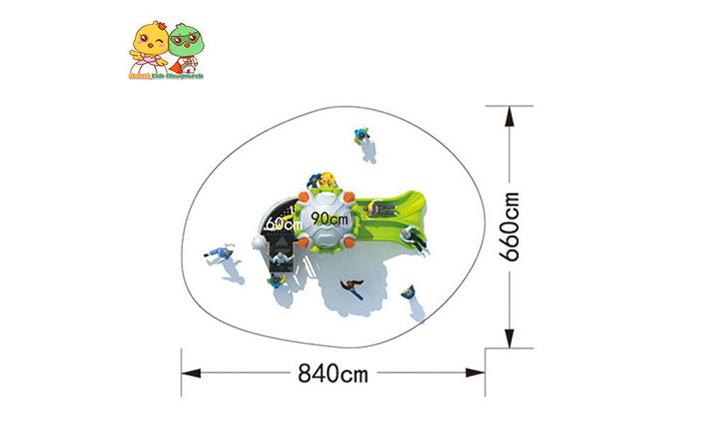 SKP playground plastic slide directly sale for kindergarten-2