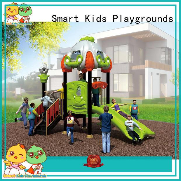 Smart Kids Playgrounds durable wooden slide plastic for kindergarten