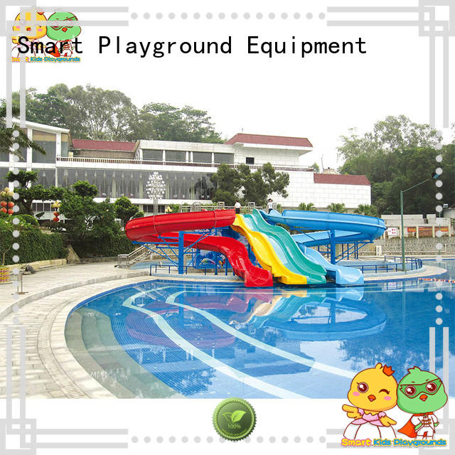 colorful giant water slide simple assembly for plaza Smart Kids Playgrounds