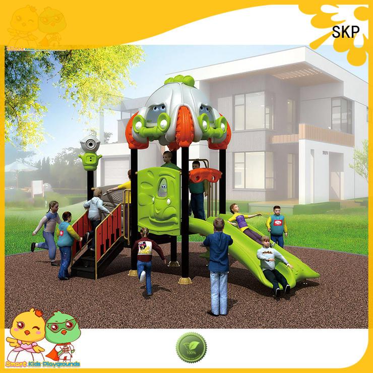 safe wooden slide factory for kindergarten