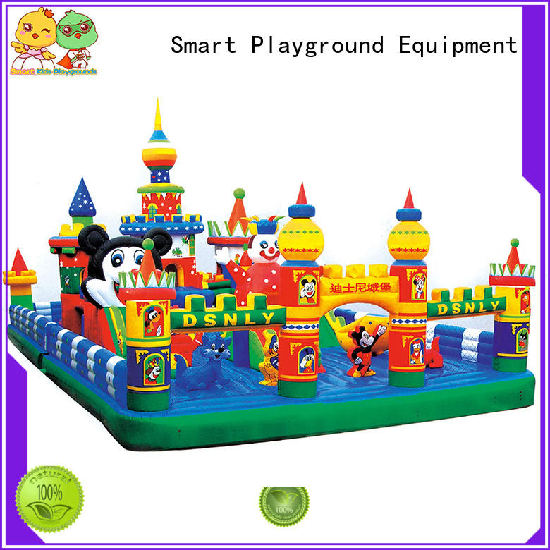 customized playground inflatable toys castle Smart Kids Playgrounds Brand company