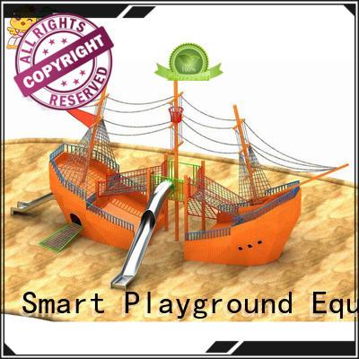 Smart Kids Playgrounds wooden outdoor slide directly sale for supermarket
