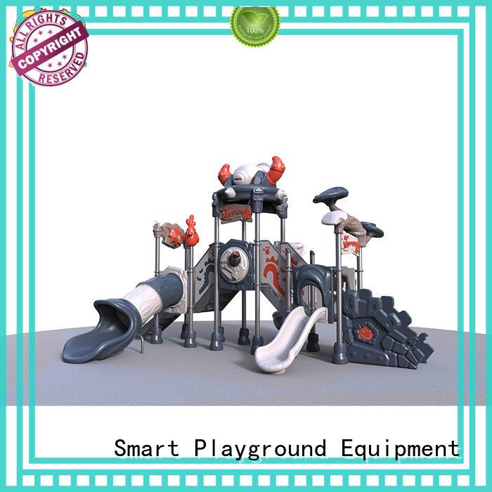 plastic amusement outdoor kids slide wooden Smart Kids Playgrounds