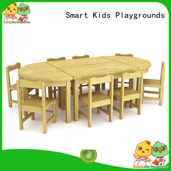Wholesale school wooden kindergarten furniture Smart Kids Playgrounds Brand