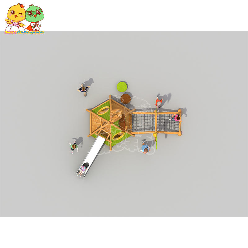 SKP high quality wooden slide wholesale for kindergarten-3