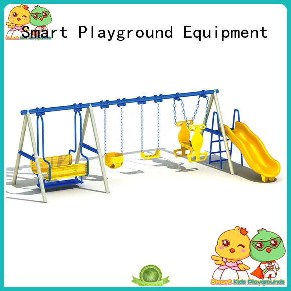 SKP durable playset slides wooden for kindergarten