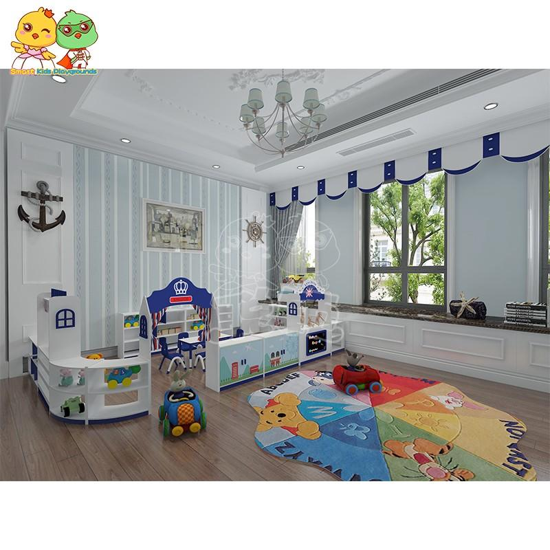 Environmental childrens wooden table and chairs furniture high quality for Kids care center-2