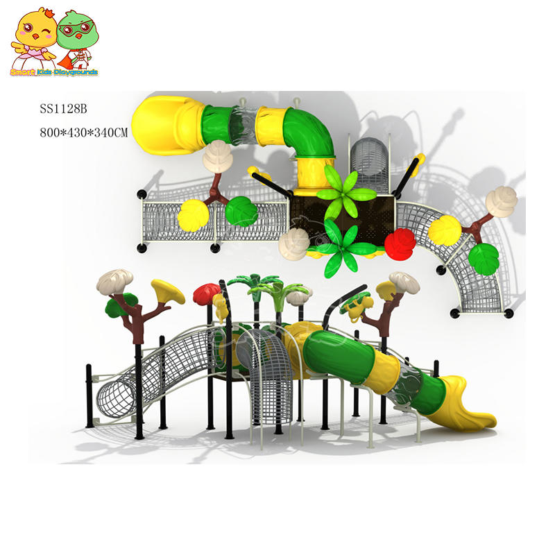 Child slide ladder plastic slide outdoor playground equipment prices for sale SKP-1907836