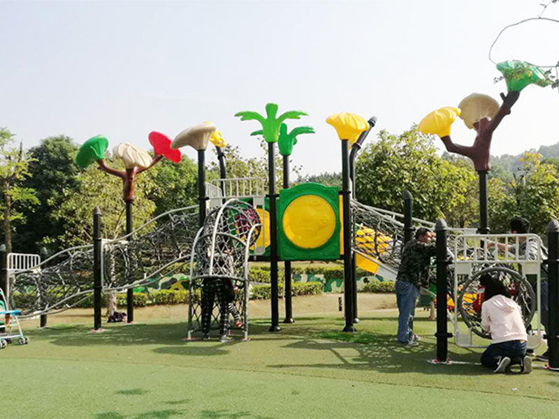 stable wooden slide plastic directly sale for Amusement park-5