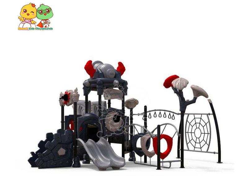 stable plastic slide playground online for pre-school-1