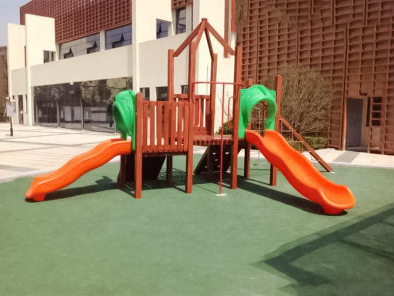 SKP slides jungle wooden slide wholesale for restaurant