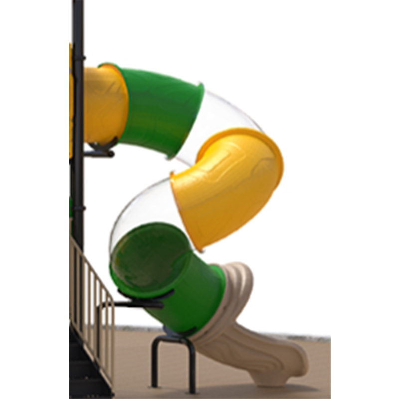 SKP playground plastic slide directly sale for residential area-7