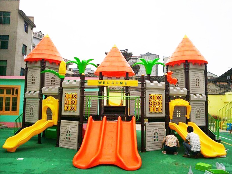SKP playground plastic slide directly sale for residential area-19