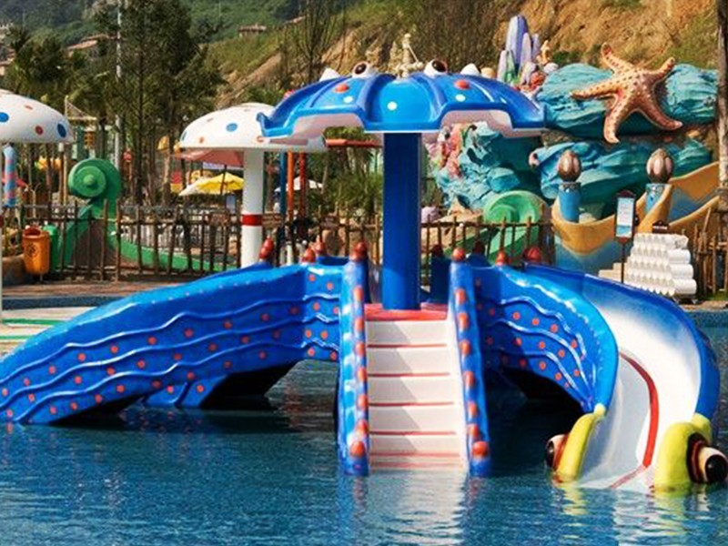 SKP kids wooden slide factory for swimming pool-21