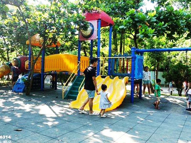 SKP playground plastic slide directly sale for residential area-22
