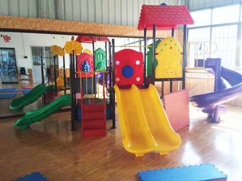 SKP playground plastic slide factory for supermarket-23