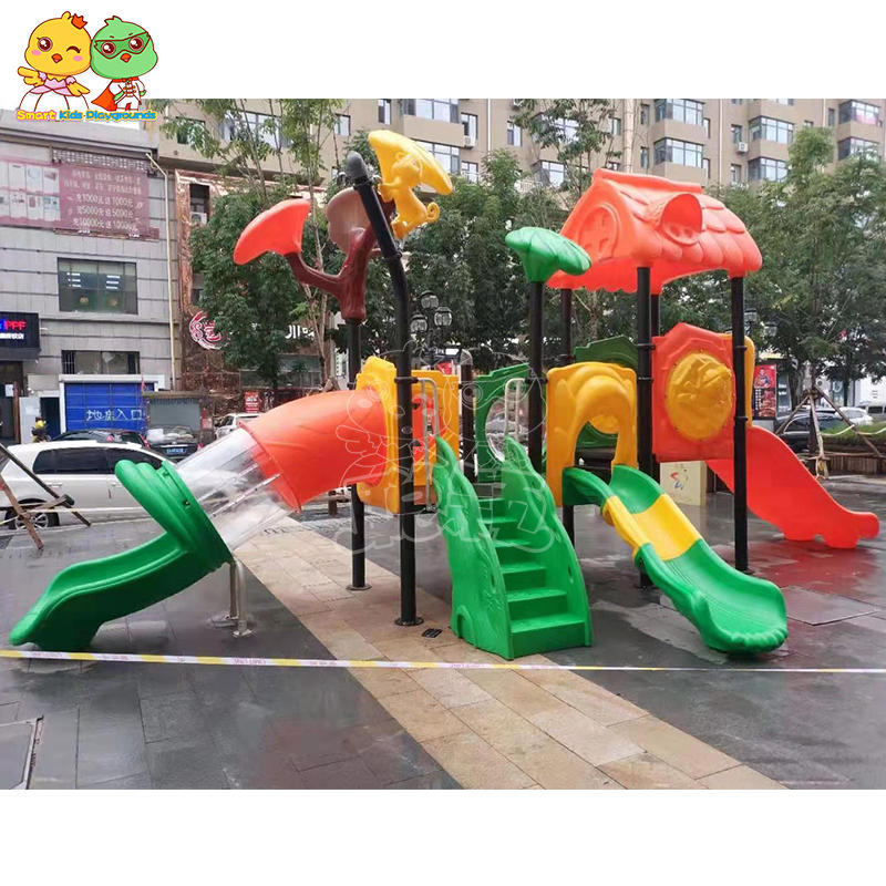Plastic outdoor kids slide professional outdoor equipment SKP