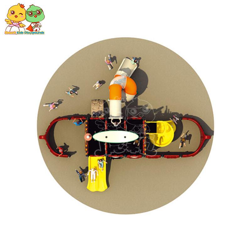 Best outdoor plastic kids slide commercial equipment SKP