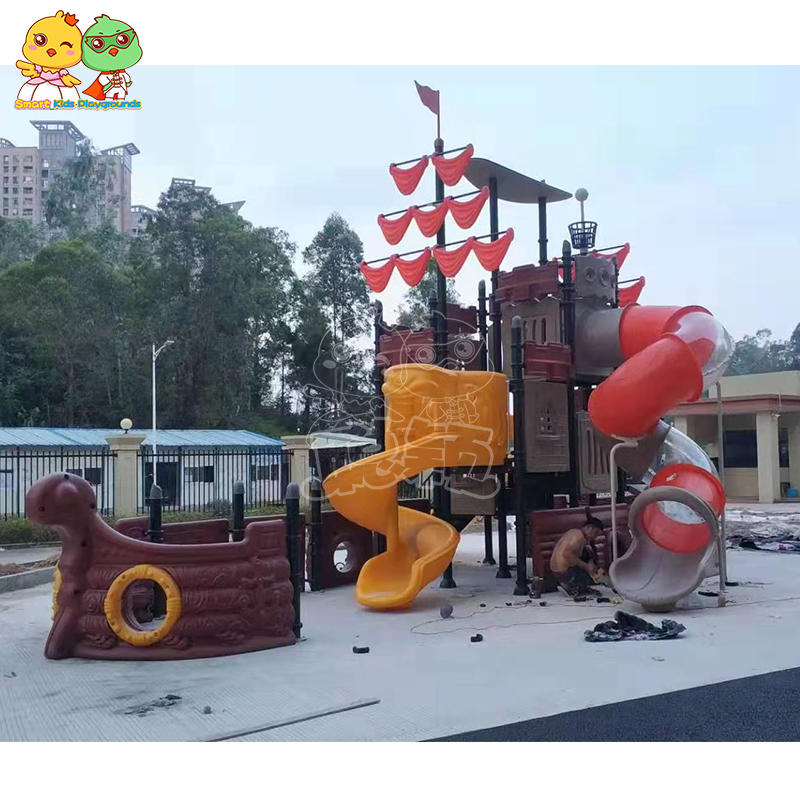 Best outdoor plastic kids slide commercial equipment SKP