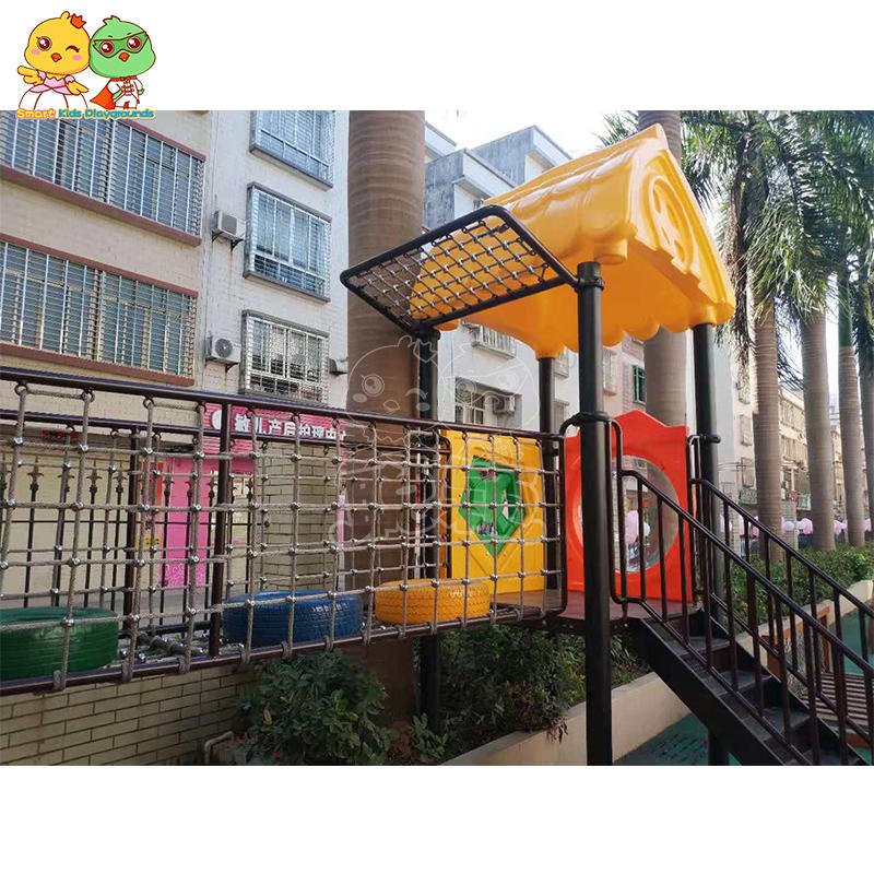 Large plastic stainless steel combination climbing slide SKP