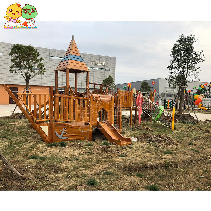 Outdoor Wooden Slide Ship Style SKP-1909062