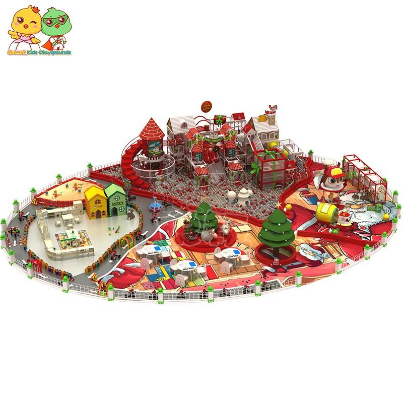 funny wooden playground equipment high quality for indoor