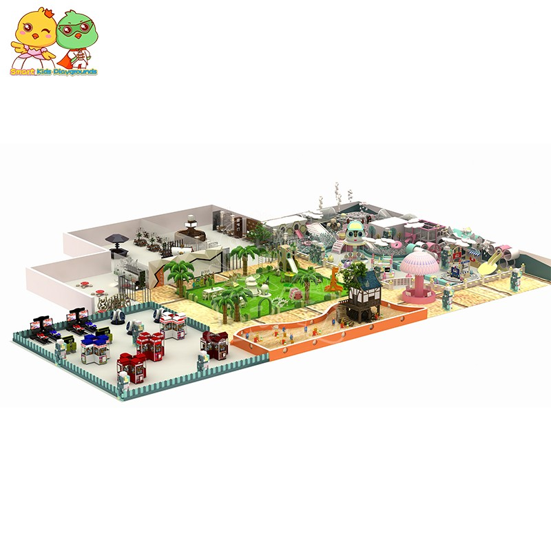 SKP safe childrens jungle gym puzzle game for shopping mall-1