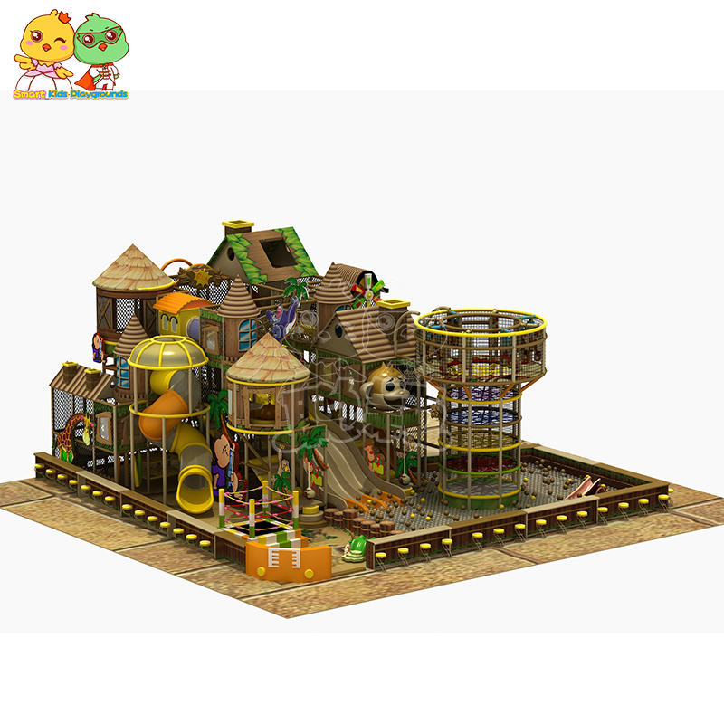 Rainforest jungle-themed indoor playground plastic stainless steel  SKP
