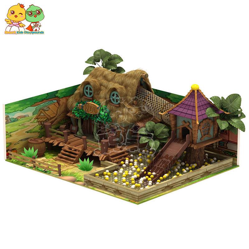 Rainforest jungle-themed indoor playground plastic stainless steel  SKP