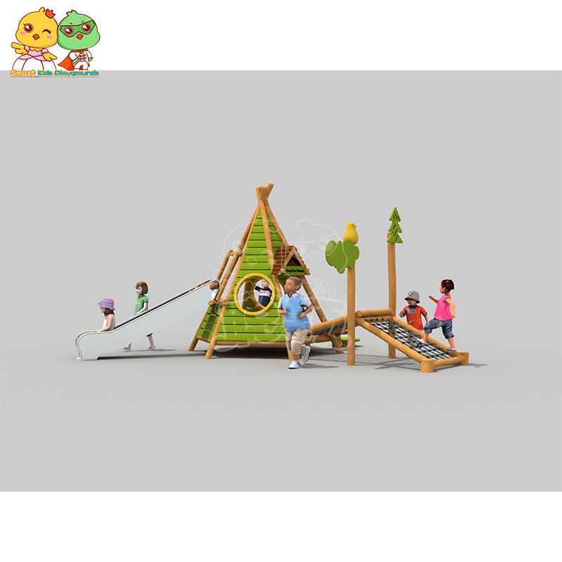 Robinia Wooden Extension Equipment Slide for Children SKP