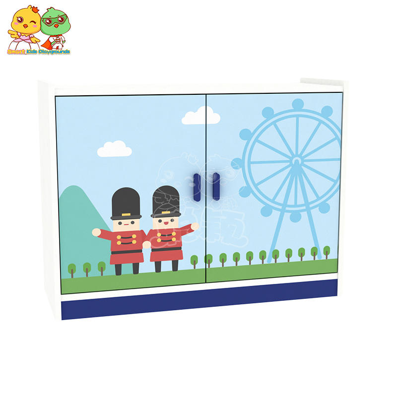 British Style Combination of Solid Wood Furniture Cabinet for Children SKP
