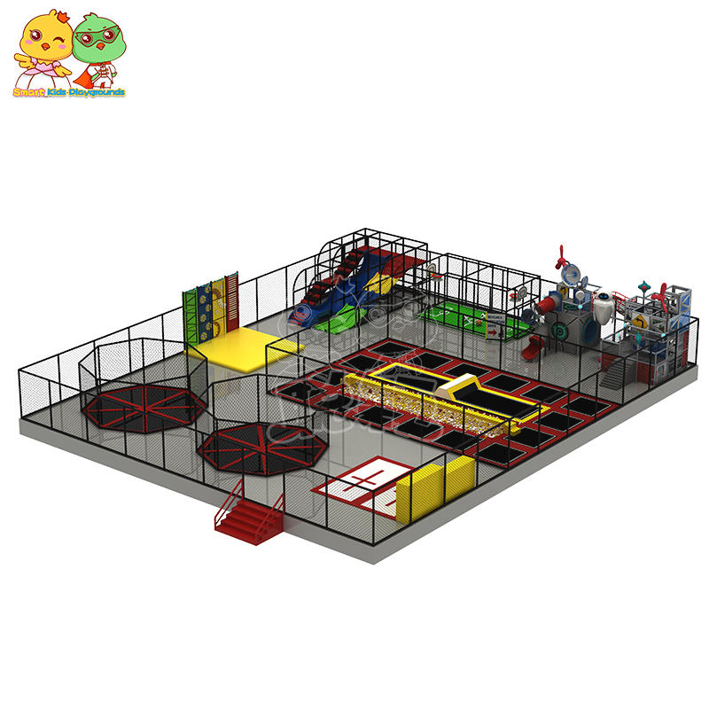 Multi-function combination trampoline basketball bubble pool custom play park SKP