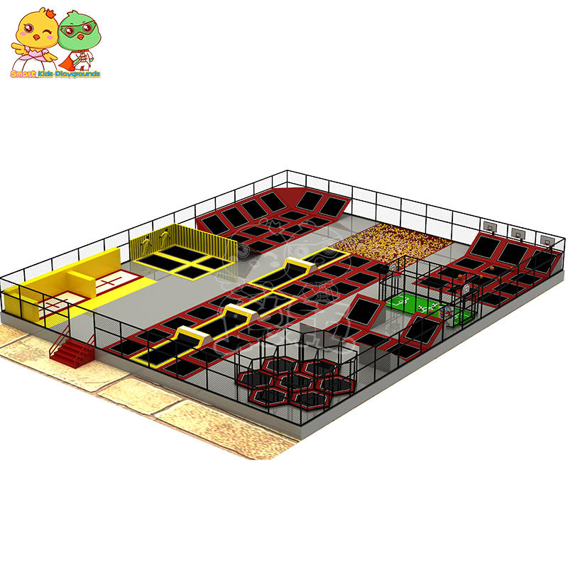 Multi-function combination trampoline basketball bubble pool custom play park SKP