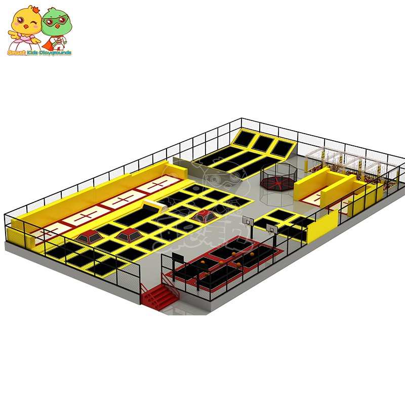 security trampoline park equipment sale on sale for amusement park-5