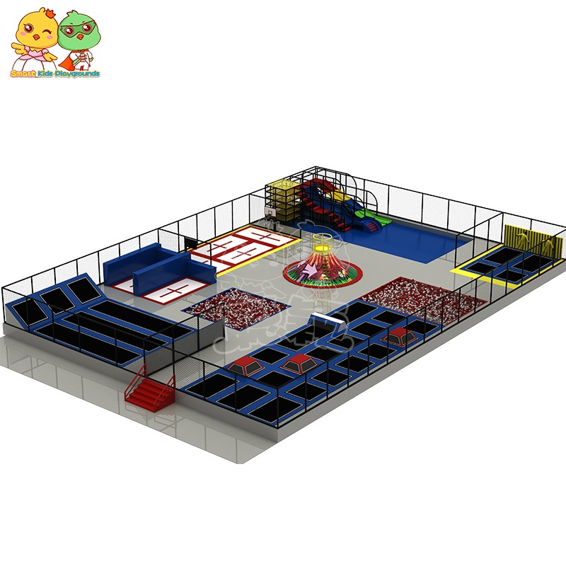 security trampoline park equipment sale on sale for amusement park-7