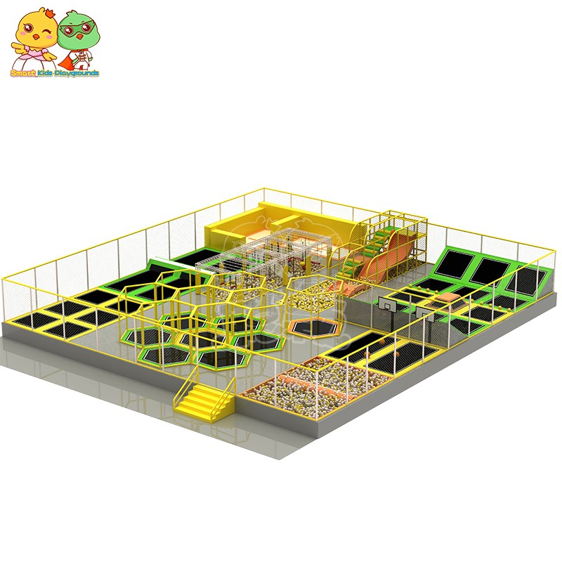 security trampoline park equipment sale on sale for amusement park-8