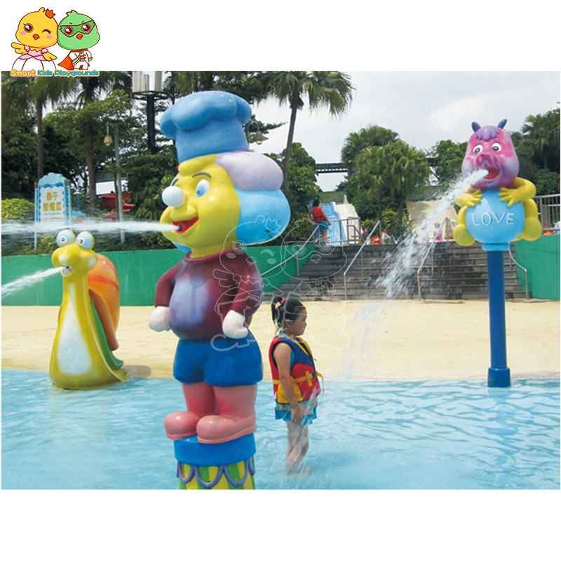 SKP play water slides simple assembly for play centre-10