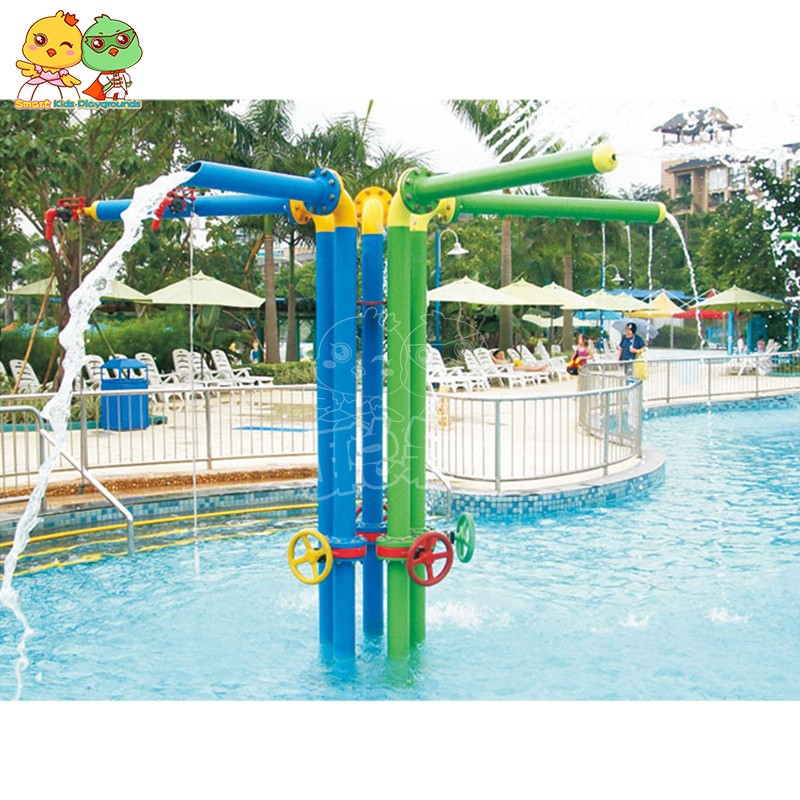 SKP play water slides simple assembly for play centre-14